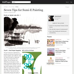 Seven Tips for Sumi-E Painting