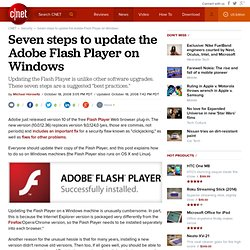 Seven steps to update the Adobe Flash Player on Windows