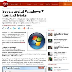 7 useful Windows 7 tips and tricks