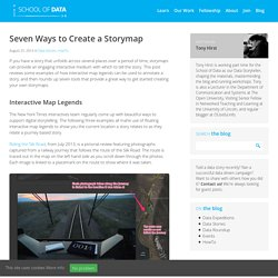 Seven Ways to Create a Storymap