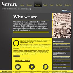 Seven | World-Class Content Marketing | About us