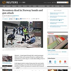Bomb rocks government offices in Oslo, two said dead