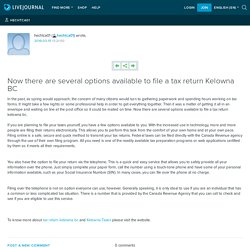 Now there are several options available to file a tax return Kelowna BC: hechtca01