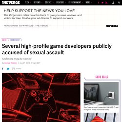 Several high-profile game developers publicly accused of sexual assault