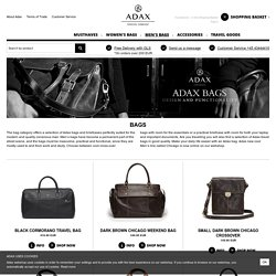 Men's bags, several model and colors. All bags are made from high quality calf leather. Affordable prices and high quality. Your Adax shop online.