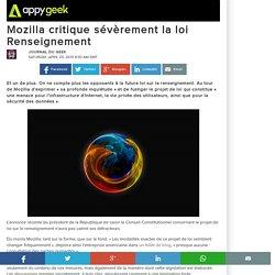 25/04/15 Mozilla critique sévèrement la loi Renseignement