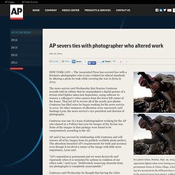 severs ties with photographer who altered work