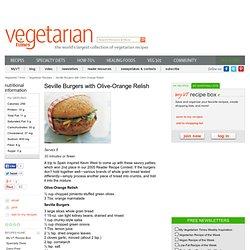 Seville Burgers with Olive-Orange Relish Recipe