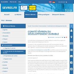 Comité sévrien du développement durable - Site de Sèvres