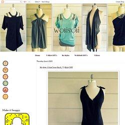 WobiSobi: No Sew, CrissCross Back, T-Shirt DIY