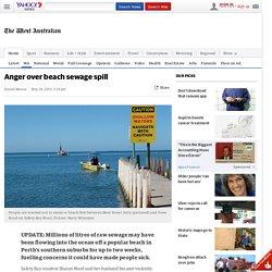 Sewage leak at Perth beach