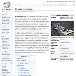 WIKIPEDIA – Sewage treatment.