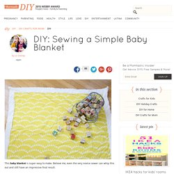 Sewing a Simple Baby Blanket