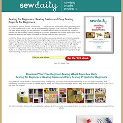 Sewing for Beginners: Sewing Basics and Easy Sewing Projects for Beginners