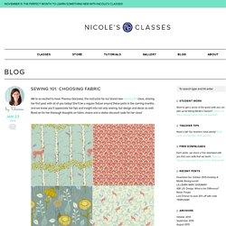 Sewing 101: Choosing Fabric