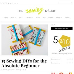15 Sewing DIYs for the Absolute Beginner