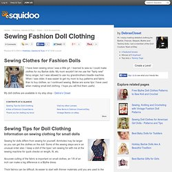 Tips For Sewing Fashion Doll Clothing