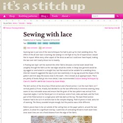 Sewing with lace : It's a Stitch Up