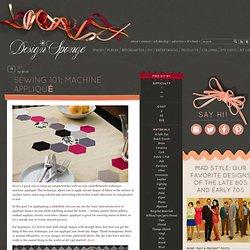 Design*Sponge » Blog Archive » sewing 101: machine appliqué