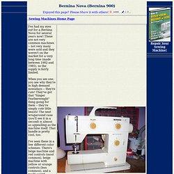 Sewing Machines - Bernina Nova (900)