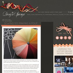 Design*Sponge » Blog Archive » sewing 101: making a pouf