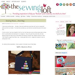 Sewing News....Hexi Bag - The Sewing Loft