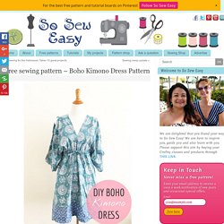 Free sewing pattern - Boho Kimono Dress Pattern