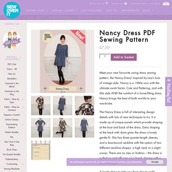 Nancy Dress Swing Dress Sewing Pattern: Sew Over It Online Fabric Shop