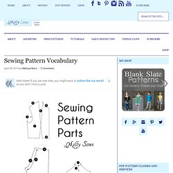 Sewing Pattern Vocabulary