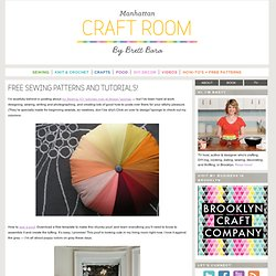 free sewing patterns and tutorials! | Brett Bara - StumbleUpon