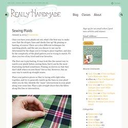 Sewing Plaids / Amy Alan