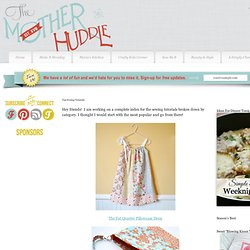 Top Sewing Tutorials From Mother Huddle