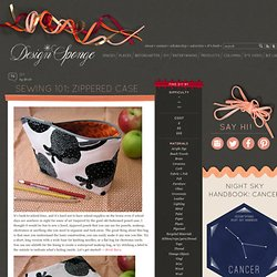 Design*Sponge » Blog Archive » sewing 101: zippered case
