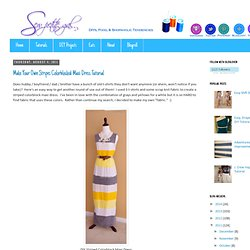 Make Your Own Stripes Colorblocked Maxi Dress Tutorial