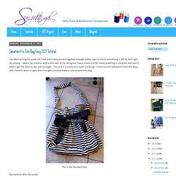 Sweatshirt to Tote Bag Easy DIY Tutorial