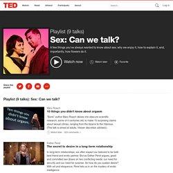 Sex: Can we talk?