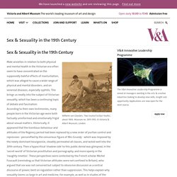 Sex & Sexuality in the 19th Century