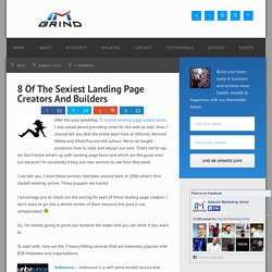 8 Of The Sexiest Landing Page Creators And Builders - IMGRIND