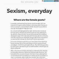 Sexism, everyday