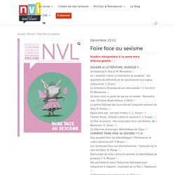 Faire face au sexisme - NVL - Centre Denise Escarpit