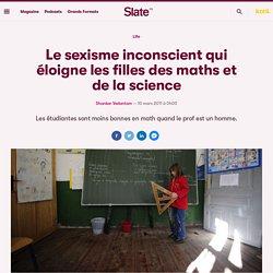 Le sexisme inconscient qui éloigne les filles des maths et de la science