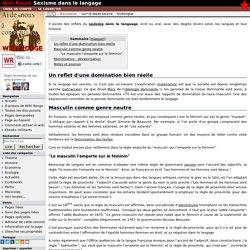 Sexisme dans le langage — Wikirouge