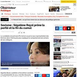 Sexisme : Ségolène Royal prône la parité et la fin du cumul - Politique