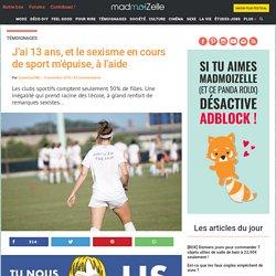 Sexisme dans le sport : le témoignage d'une collègienne