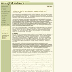Sexological Bodywork : The Erotic Mind review