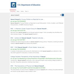 sexual assault - ED.gov Search Results