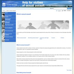 What is sexual assault - Help for Victims of Sexual Assault New South Wales