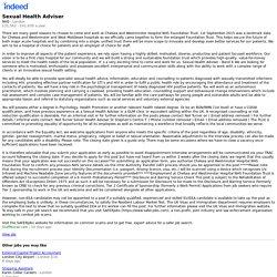 Sexual Health Adviser - London - Indeed Mobile