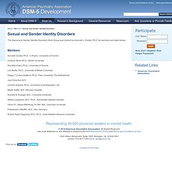 Sexual and Gender Identity Disorders | APA DSM-5