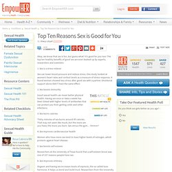 Top Ten Reasons Sex is Good for You - EmpowHER.com - StumbleUpon